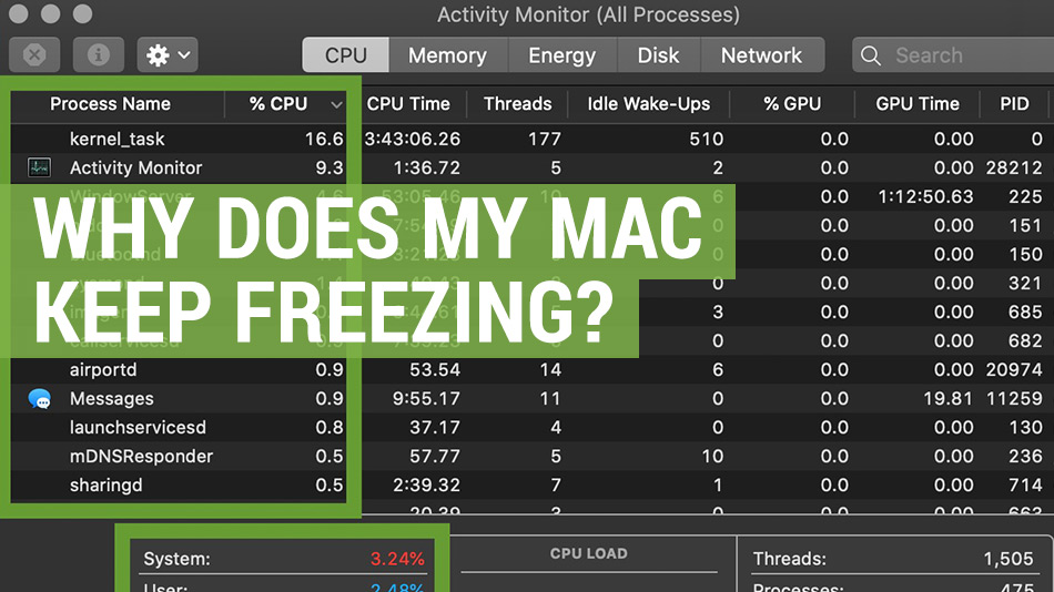 why does my apple mac keep freezing