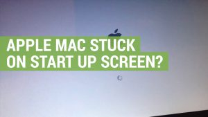 Apple mac stuck on start up screen