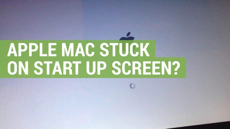 Apple mac stuck on start up screen