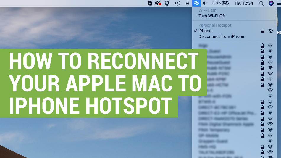 how to reconnect apple mac to iphone hotspot