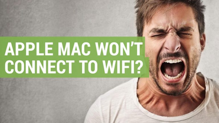 apple mac won't connect to wifi