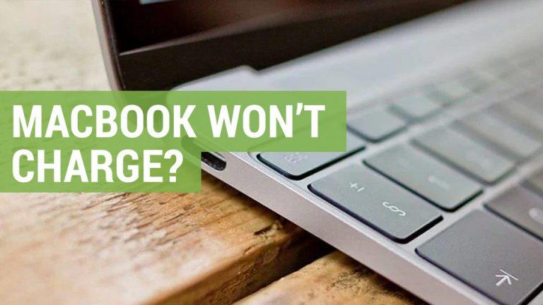 apple macbook won't charge
