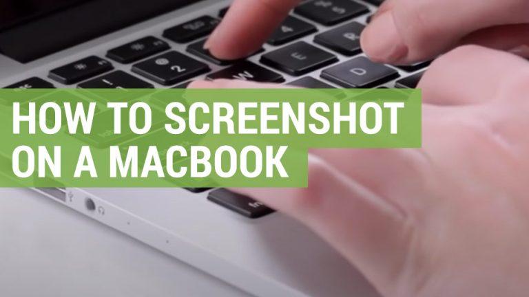how to screenshot on a mac book