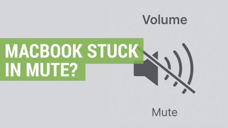apple macbook stuck in mute