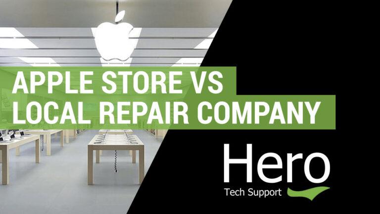 apple store vs repair shop or company